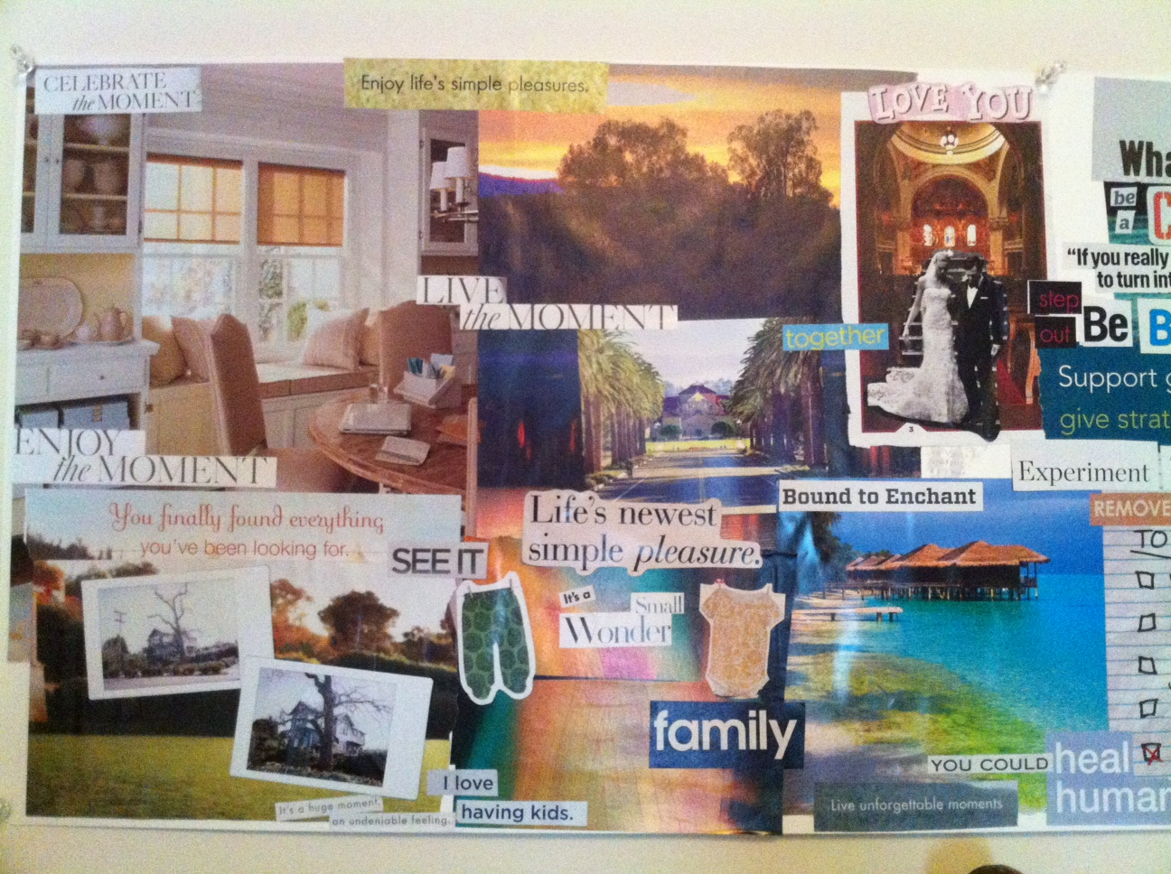 Envision your dream life and make it real what do i do for Home design vision board