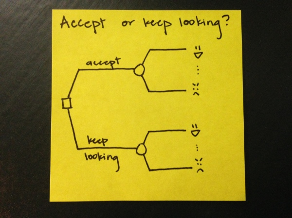 Accept or keep looking